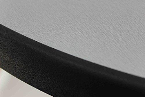 photo Wallpaper of Sevelit-Sevelit Tischplatte Silber Metall Gebürstet, Rund, 850mm Durchmesser, Wetterfest, Schlagfeste Tischkante, Tischplatten Ideal Als-Silber