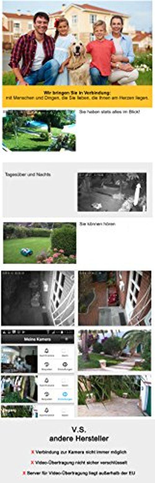 photo Wallpaper of HiKam-HiKam A7 Überwachungskamera Für Außenbereich Fehlalarmfrei Mit Personendetektion   Kostenlose Cloud Speicherung In-