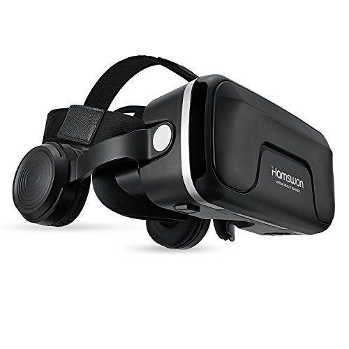 photo Wallpaper of HAMSWAN-HAMSWAN G04EA 3D VR Briller Virtual Reality Gläser Mit Eingebautem Headset 120 Grad-Schwarze Brille