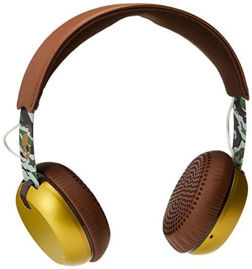 photo Wallpaper of Skullcandy-Skullcandy Berüchtigte On Ear Kopfhörer Kollektion Mit TapTech Playback Fernbedienung Grind-Scout Brown and Gold