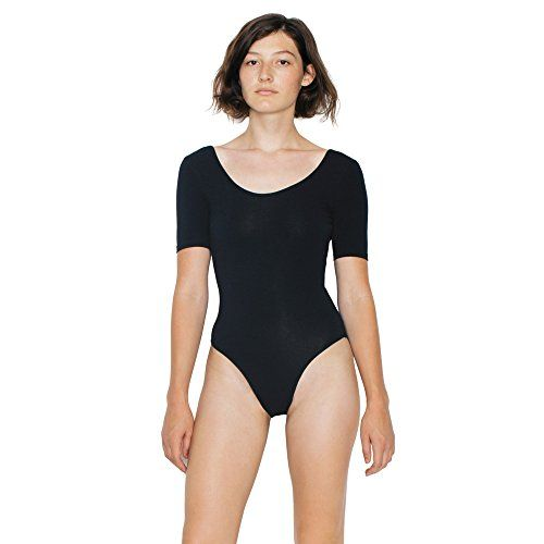 photo Wallpaper of American Apparel-American Apparel Damen Body Mit Rundhalsausschnitt (L) (Schwarz)-Schwarz
