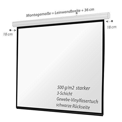 photo Wallpaper of Ultraluxx-ULTRALUXX Motorleinwand 240x240 Cm Projektionsfläche, E Line Serie Beamerleinwand, 339 Cm (133 Zoll)-Motorleinwand-Format 1:1