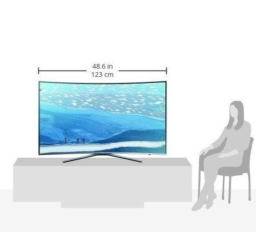 photo Wallpaper of Samsung-Samsung KU6509 138 Cm(55 Zoll) Curved Fernseher (Ultra HD, Triple-silber