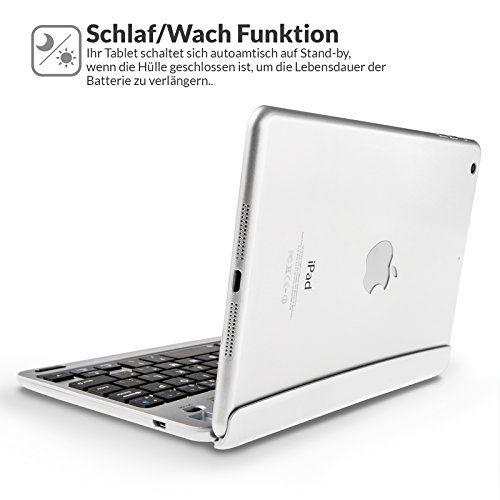 photo Wallpaper of Caseflex-Caseflex Ultra Dünn Bluetooth Tastatur Mit Magnetischer Halterung & Verstellbarem Haltstand Für IPad Mini,-Silber
