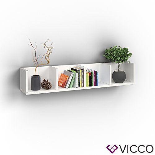 photo Wallpaper of Vicco-VICCO Wandregal 90 Cm Weiß   Für CD DVD PC Spiele Cover Medien-Weiß