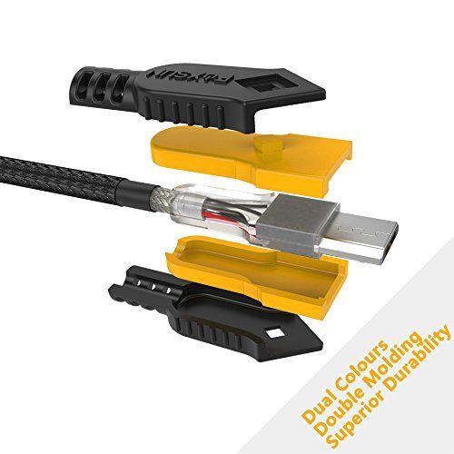 photo Wallpaper of FOXSUN-Micro USB Kabel [4 Stück, 1m] Foxsun 2,4A USB Ladekabel Geflochtenes Samsung-1M-Rot, Orange, Grün, Blau