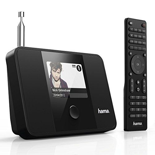 photo Wallpaper of Hama-Hama Digitaler Radio Tuner (Internetradio DAB+ Empfangsteil, WLAN/LAN, UKW/FM, UPnP/Bluetooth Streaming, Optimal-Schwarz