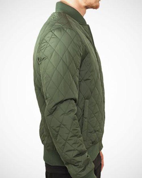 photo Wallpaper of Urban Classics-Urban Classics Herren Jacke Diamond Quilt Nylon Jacket-Schwarz