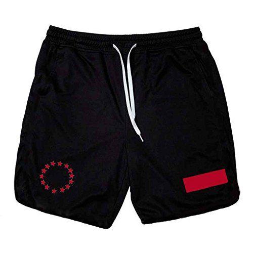 photo Wallpaper of GOTTING-GOTTING Männer Fitness Sweat Shorts Laufhose Atmungsaktiv Hose Athletischer Sport-schwarz mit roten Vorzeichen