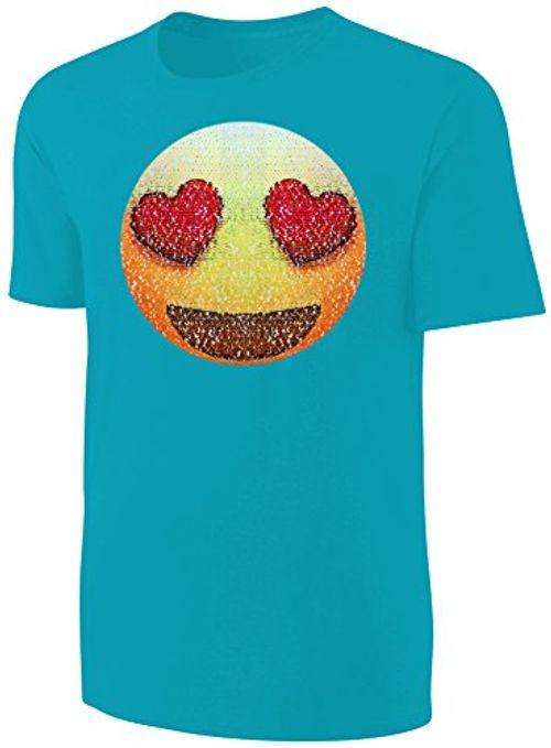 photo Wallpaper of Blackshirt Company-Kinder T Shirt Wende Pailletten Smiley Sonnenbrille Streichel Shirt Türkis-Türkis