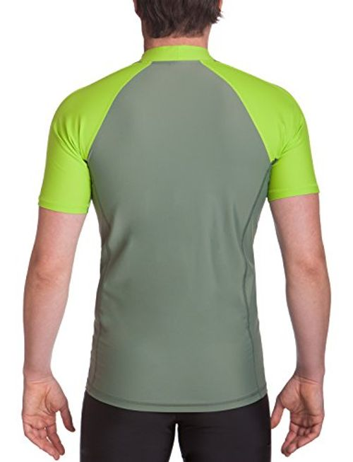 photo Wallpaper of iQ-UV-IQ UV Herren 300 Eng Geschnitten Schutz T Shirt Uv Shirt, Neon Green, L-neon green_515