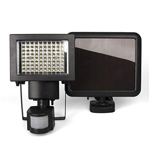 photo Wallpaper of Plaights-Plaights Solarleuchte/fluter Mit Bewegungsmelder/sensor | 80 Leistungsstarke LEDs | IP44-Schwarz