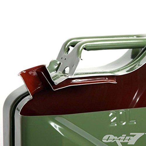 photo Wallpaper of Oxid7-2x Oxid7® Benzinkanister Kraftstoffkanister Metall 20 Liter Rot Mit UN Zulassung   TÜV-Rot