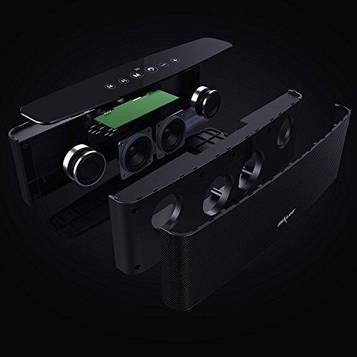 photo Wallpaper of ZEALOT-Bluetooth Lautsprecher, ZEALOT S12 Musikbox Wireless Speaker Bluetooth 4.2 Mobile Bluetooth Lautsprecher Mit Eingebautem-Schwarz