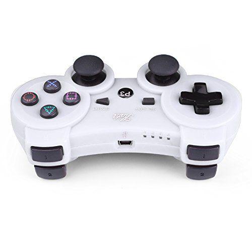 photo Wallpaper of Kabi-Kabi Wireless Controller Double Shock Gaming Controller 6 Achsen Bluetooth Gamepad-Weiß