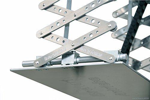 photo Wallpaper of Braun-X Lift Beamer Deckenlift, Projektor Lift Mit 80cm Hub Inkl. Funksteuerung & Inkl. Fernbedienung-Aluminum silber