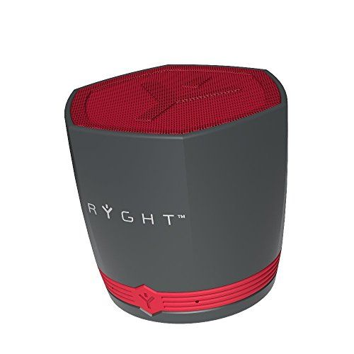 photo Wallpaper of Ryght-Ryght R482310 N Exago Bluetooth Kompaktlautsprecher Grau Rot-Grau-Rot