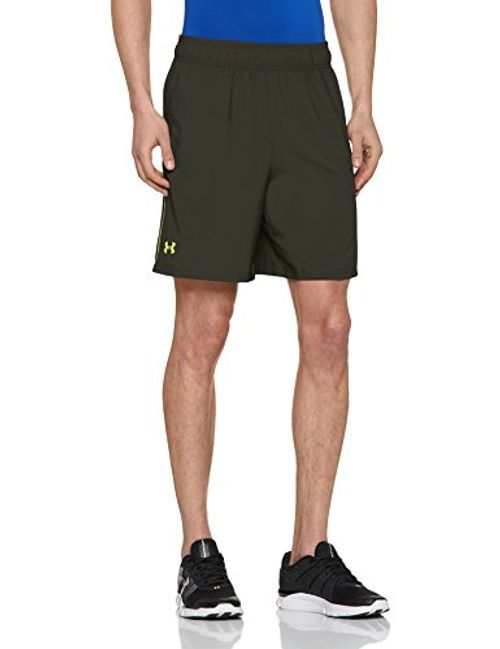 photo Wallpaper of Under Armour-Under Armour Herren Mirage Shorts, Rifle Green/High Vis Yellow, Gr. LG/G-Rifle Green/High-Vis Yellow