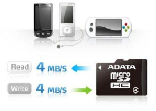 photo Wallpaper of ADATA-A Data AUSDH8GCL4 RA1 8 GB MicroSDHC Class 4 Speicherkarte +-