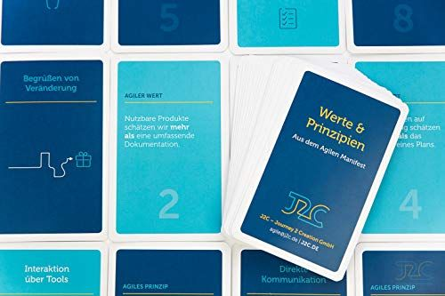photo Wallpaper of J2C JOURNEY 2 CREATION-J2C JOURNEY 2 CREATION Agile Werte & Prinzipien Card Game-Blau,