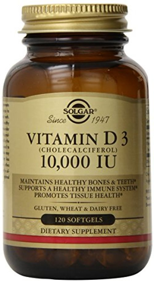 photo Wallpaper of Solgar-Solgar, Natural Vitamin D3, 10,000 IU, 120 Softgels-