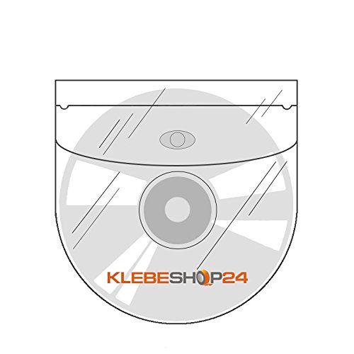 photo Wallpaper of KLEBESHOP24-CD Taschen Selbstklebend | Transparent | Mit Klappe | 20-