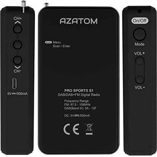 photo Wallpaper of AZATOM-Pro Sports S1 DAB Tragbares Digitalradio: Azatom Pro Sports S1-
