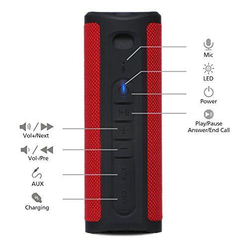 photo Wallpaper of ZENBRE-ZENBRE Bluetooth Lautsprecher, Z4 Kabellose Lautsprecher 20h StundenSpielzeit Mit Verstärkte Bässe, 2x5W-Schwarz