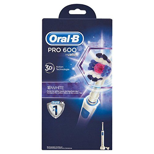 photo Wallpaper of Oral-B-Oral B Pro 600 White & Clean   Cepillo De Dientes Eléctrico-Azul, Color Blanco