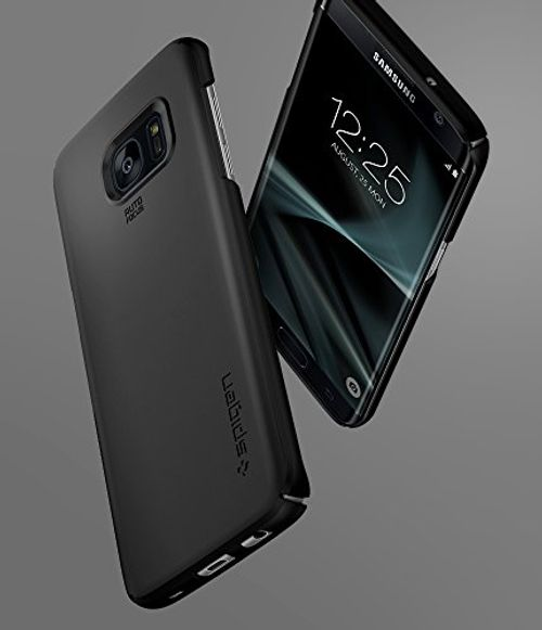 photo Wallpaper of Spigen-Samsung Galaxy S7 Edge Hülle, Spigen® [Thin Fit] Passgenaues [Schwarz] Premium Hart-Einfarbig