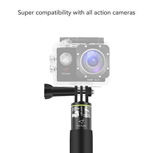 photo Wallpaper of Victure-Victure Action Kamera Ausziehbarer Selfie Stick Aluminium Wasserdichter Handgriff Für Go Pro, Apeman,-ST10