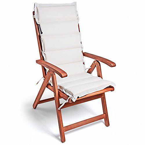 photo Wallpaper of Deuba-Detex® 6x Stuhlauflage | 6er Set | Rückhaltebänder | Wasserabweisend | Hochlehner Auflage-Creme-Anthrazit