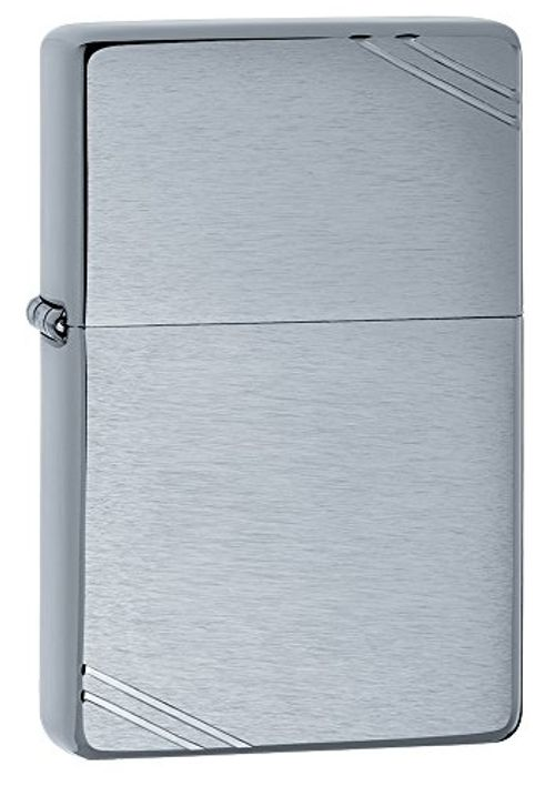photo Wallpaper of Zippo-Zippo Vintage   Mechero, Color Brushed Chrome-Brushed Chrome