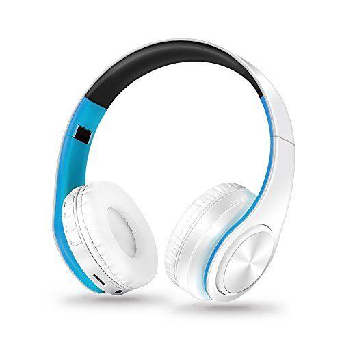 photo Wallpaper of Hinmay-Bluetooth Kopfhörer Kabellos, Bis Zu 10Stunden Playtime über Dem Ohr, Hinmay-weiß / blau