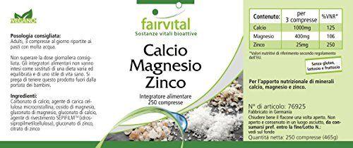 photo Wallpaper of fairvital-Fairvital   250 Pastillas De Calcio, Magnesio Y Cinc-