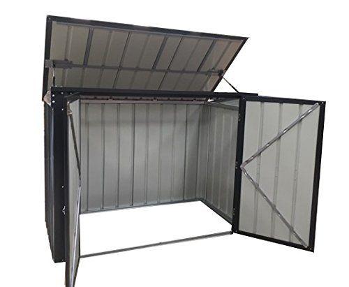 photo Wallpaper of Globel Industries-Globel Industries Metallgerätebox Und Mülltonnenbox 5x3 Anthrazit 174x101x132 Cm  Aufbewahrungsbox Und-Anthrazitgrau