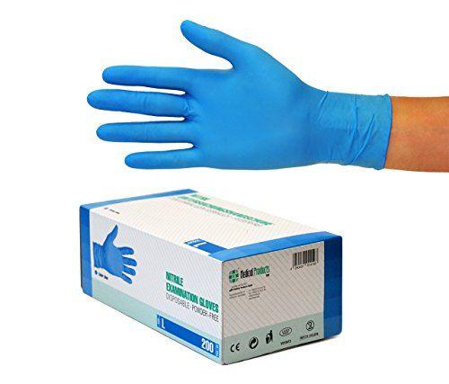 photo Wallpaper of SF Medical Products-Nitrilhandschuhe 200 Stück Box (L, Nitril Blau) Einweghandschuhe, Einmalhandschuhe, Untersuchungshandschuhe, Nitril Handschuhe, Puderfrei,-Blau