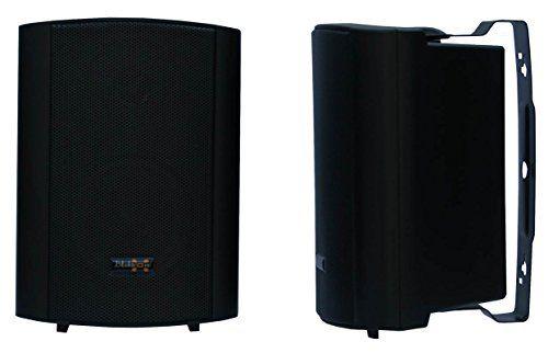 photo Wallpaper of E-Lektron-E Lektron EWL4P Stereo Passiv Lautsprecher Paar Inkl. Wandhalter Für Innen Und Außen -Schwarz