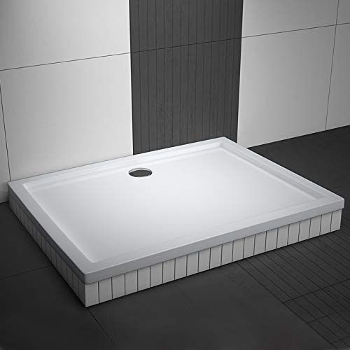 photo Wallpaper of Aquabad-Rechteck Duschwanne/Duschtasse AQUABAD® | Komplettset Comfort Basic 80x100cm | Inkl.-