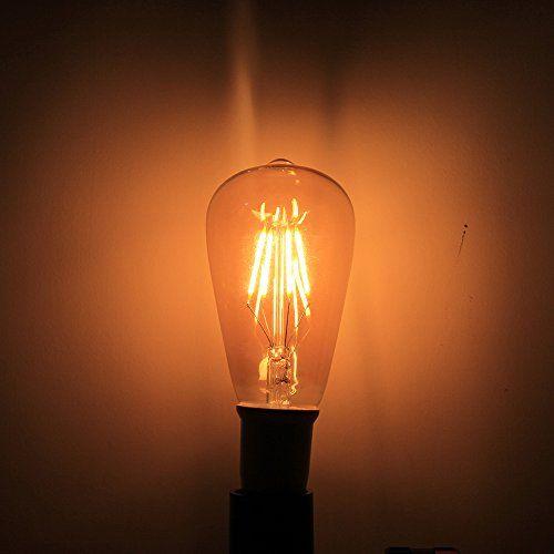 photo Wallpaper of ITALASA-4 Pack Dimmbare LED E27 4W ST64 Filament Glühbirne Edison Vintage-St64 4w Dimmbar
