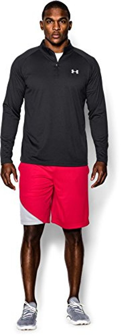 photo Wallpaper of Under Armour-Under Armour Herren Fitness Sweatshirt UA Tech 1/4 Zip, Schwarz Black,-Schwarz (Black)