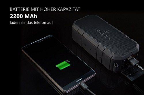 photo Wallpaper of VELLEN-VELLEN Ultralight Wasserdicht Bluetooth Lautsprecher 4.0 10W IP5   Gute-Schwarz