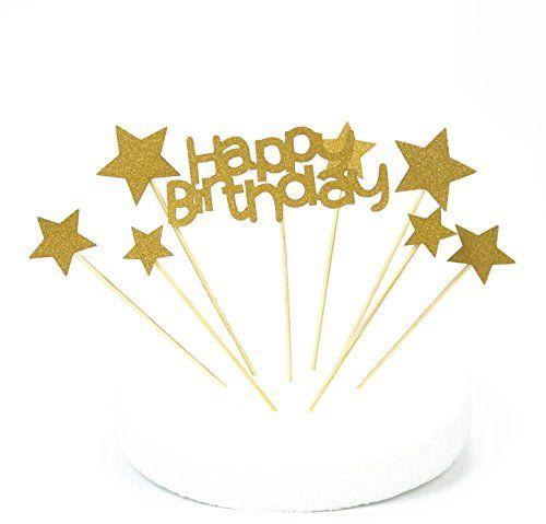 photo Wallpaper of LQZ(TM)-LQZ(TM) Happy Birthday Cake Toppers Stern Tortenstecker Kuchendeko Tortendeko Baby-