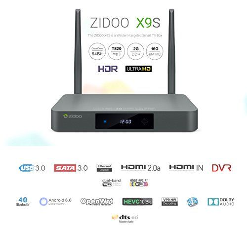 photo Wallpaper of Zidoo®-Zidoo® X9S Android TV Box Android 6.0 Quad Core 2G/16G Dual-