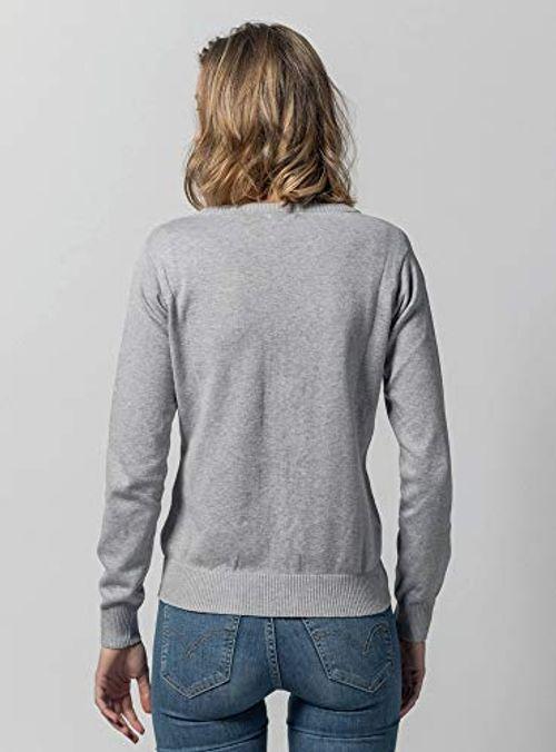 photo Wallpaper of MELAWEAR-MELAWEAR Damen Cardigan Aus 100% Bio Baumwolle   Fairtrade, GOTS Zertifiziert, Größe:L,-Grau-melange
