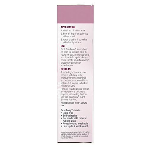 photo Wallpaper of ScarAway-ScarAway C Section Scar Treatment Strips, Silicone Adhesive Soft Fabric 4-