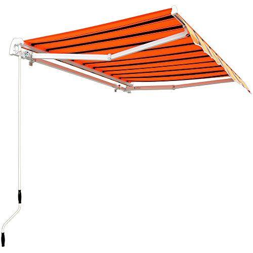 photo Wallpaper of Deuba-Aluminium Markise Orange Schwarz   Sonnenschutz Kassettenmarkise Gelenkarmmarkise Sonnensegel-mehrfarbig