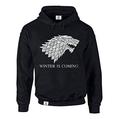 photo Wallpaper of Shirtdepartment-Hoodie Game Of Thrones Winter Is Coming Kapuzenpullover Schattenwolf, Schwarz Weiss, M-Schwarz-weiss