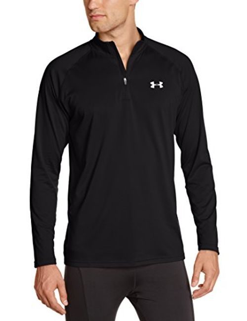 photo Wallpaper of Under Armour-Under Armour Herren Fitness Sweatshirt UA Tech 1/4 Zip, Schwarz Black, XXL, 1242220 003-Schwarz (Black)