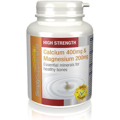photo Wallpaper of SimplySupplements-Calcio 400 Mg Y Magnesio 200 Mg   120 Comprimidos-